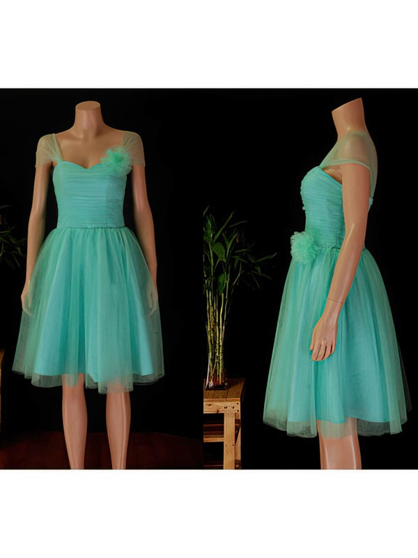 A-line Knee-length Tulle Ruffles Sweetheart Bridesmaid Dresses #PWD02017854