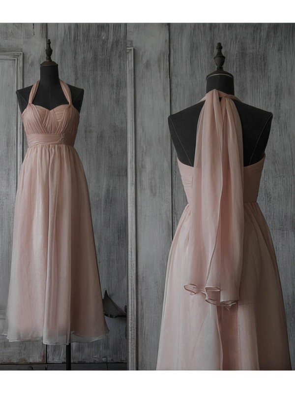 A-line Tea-length Chiffon Beading Sweetheart Bridesmaid Dresses #PWD02017891