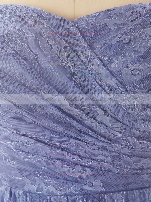 Sheath/Column Floor-length Lace Pleats Sweetheart Bridesmaid Dresses #PWD02017556