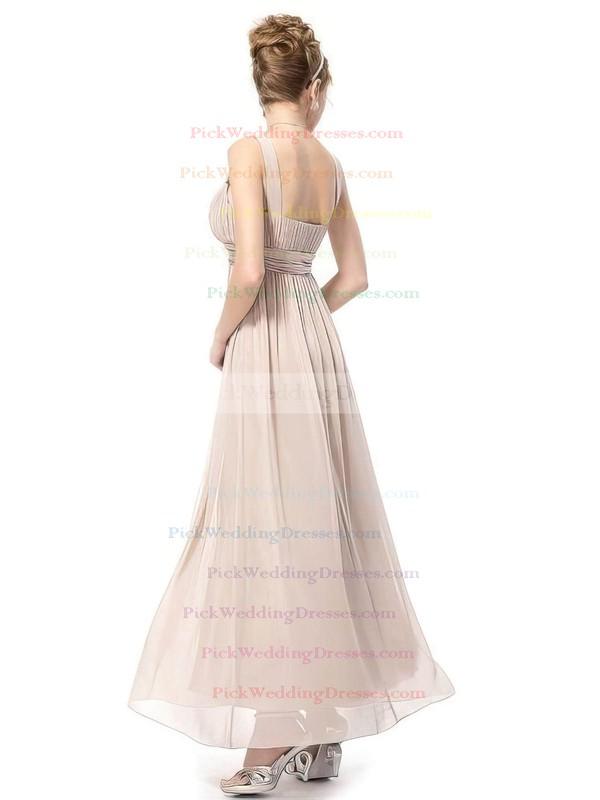 Empire Ankle-length Chiffon Sashes / Ribbons V-neck Bridesmaid Dresses #PWD02017689