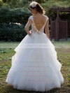 Ball Gown Fashion Tulle Appliques Lace Scoop Neck Wedding Dress #PWD00021381