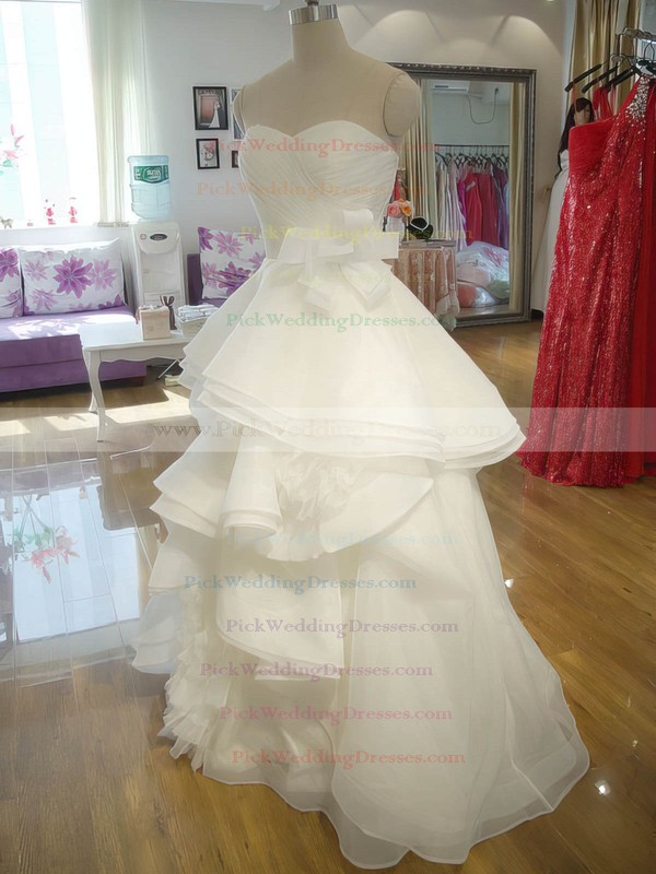 Organza Sweetheart Princess Boutique Cascading Ruffles Wedding Dress #PWD00021242