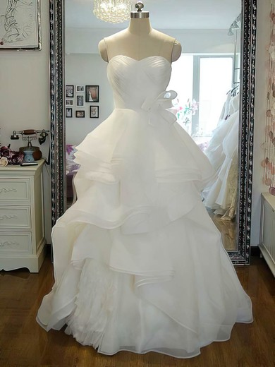 Organza Sweetheart Princess Boutique Cascading Ruffles Wedding Dress #PWD00021242