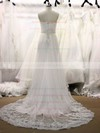 Sweetheart White Tulle Appliques Lace Zipper Court Train Wedding Dresses #PWD00021355