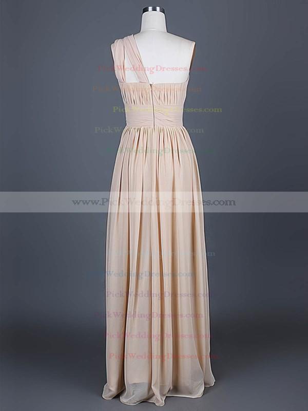 A-line Floor-length Chiffon Ruffles One Shoulder Bridesmaid Dresses #PWD01012386