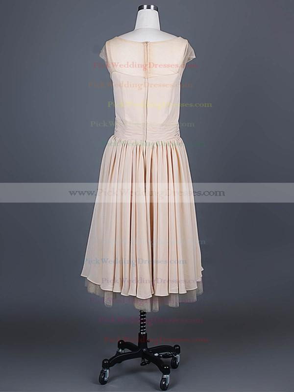 A-line Knee-length Chiffon Ruffles Scoop Neck Bridesmaid Dresses #PWD01012388