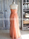 Orange Chiffon with Flower(s) Sweetheart Junior Bridesmaid Dress #PWD01012392