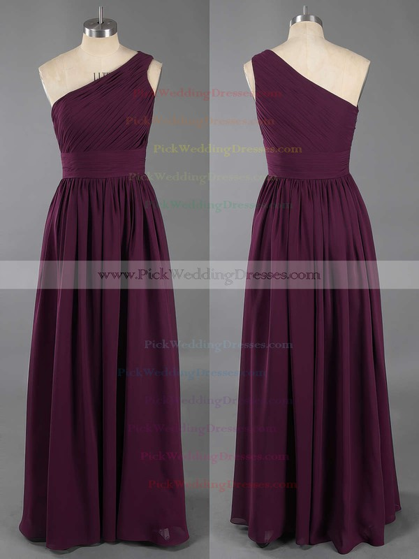 Wholesale Ruffles A-line Sage Chiffon One Shoulder Bridesmaid Dresses #PWD01012405