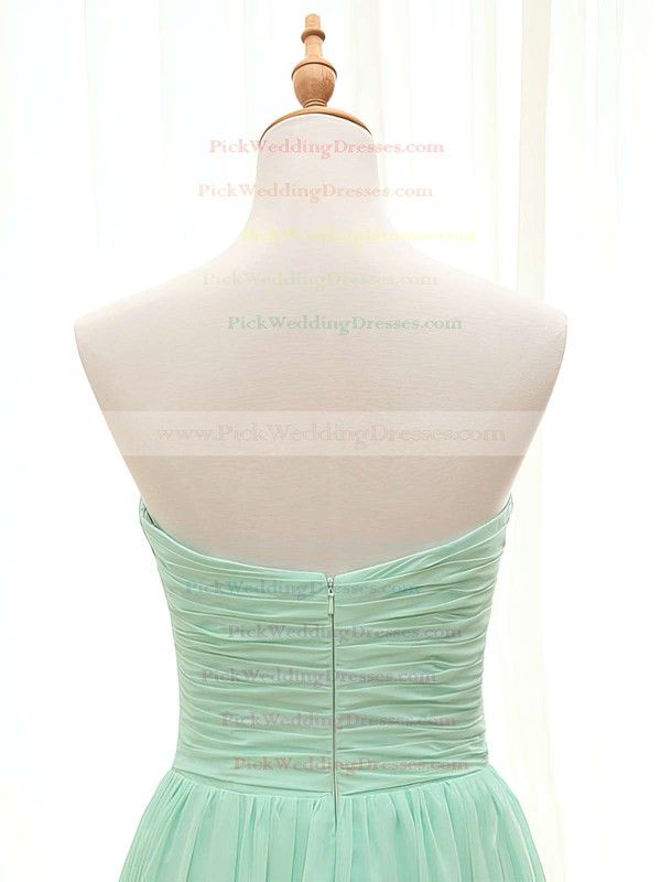 Promotion A-line Sweetheart Ruffles Sage Chiffon Bridesmaid Dresses #PWD01012407