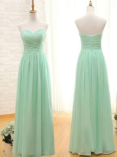 Promotion A-line Sweetheart Ruffles Sage Chiffon Bridesmaid Dresses #PWD01012407