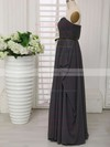 Sweetheart Gray Chiffon with Sashes/Ribbons Modest Bridesmaid Dresses #PWD01012414