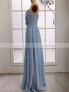 Girls Chiffon Ruffles Sweetheart Light Sky Blue Bridesmaid Dresses #PWD01012415