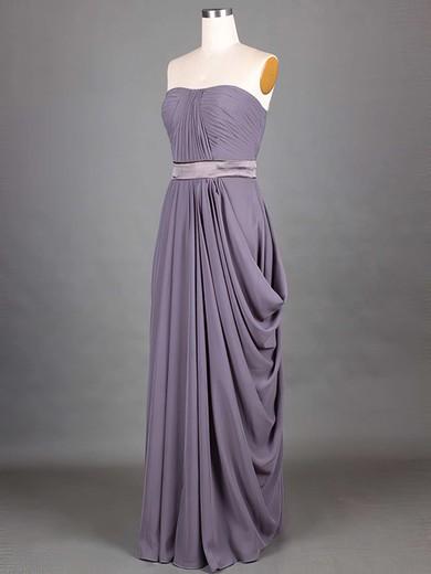 Grape Chiffon Sashes/Ribbons A-line Strapless Classic Bridesmaid Dresses #PWD01012417