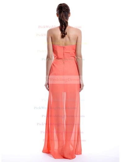 Ruffles Sweetheart Chiffon A-line Orange Newest Bridesmaid Dress #PWD01012430