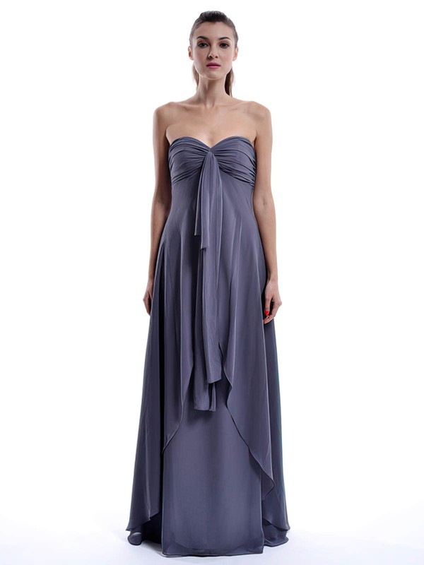 A-line Floor-length Chiffon Ruffles Sweetheart Bridesmaid Dresses #PWD01012432