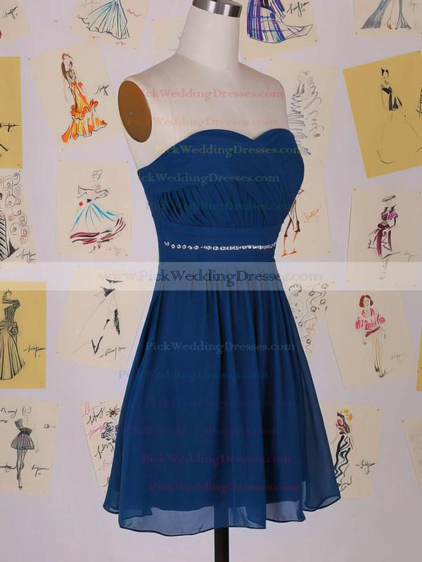A-line Short/Mini Chiffon Beading Sweetheart Bridesmaid Dresses #PWD01012458