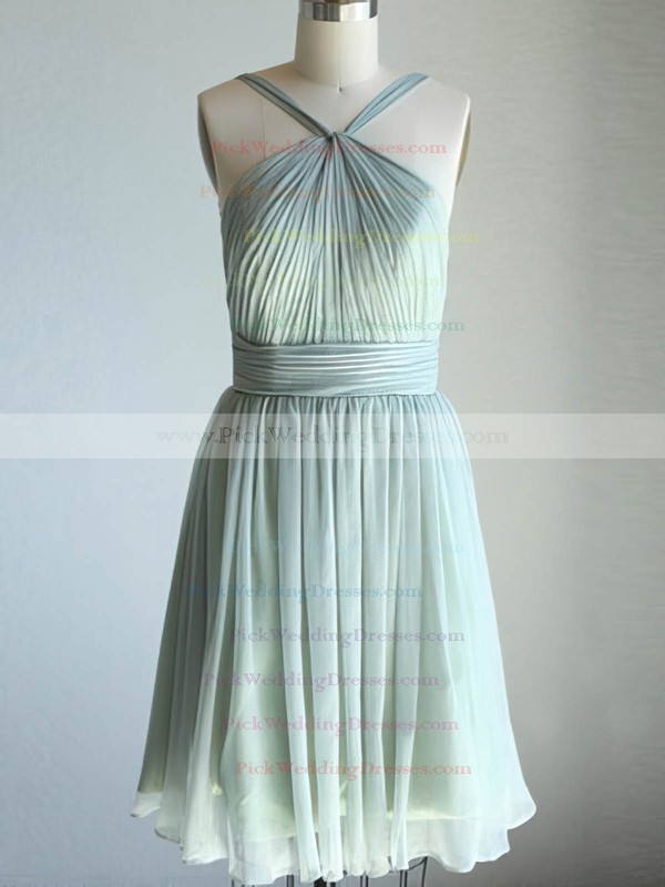 Sweetheart Sage Chiffon Ruffles Cute Short/Mini Bridesmaid Dresses #PWD01012470