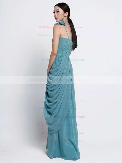 Sheath/Column Stunning One Shoulder Chiffon Ruffles Bridesmaid Dress #PWD01012486