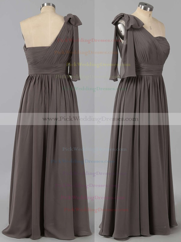 Empire Sweetheart Gray Chiffon Ruffles Vintage Bridesmaid Dresses #PWD01012491