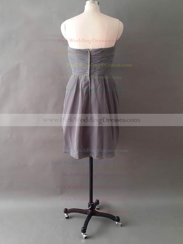 Sweetheart Unusual Chiffon Short/Mini Ruffles Flower(s) Bridesmaid Dresses #PWD01012497