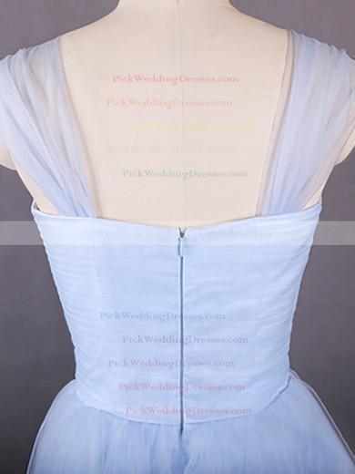 Newest Sweetheart Tulle Knee-length Ruffles Light Sky Blue Bridesmaid Dresses #PWD01012498