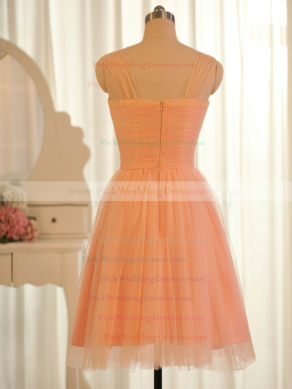 Sweetheart Orange Tulle Popular Ruffles Knee-length Bridesmaid Dresses #PWD01012504