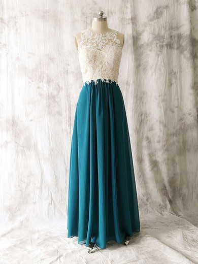 Multi Colours Chiffon Tulle Scoop Appliques Lace Sexy Open Back Bridesmaid Dress #PWD01012529