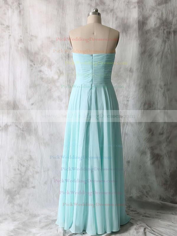 Sweetheart Ruffles Chiffon Light Sky Blue Simple Bridesmaid Dresses #PWD01012535