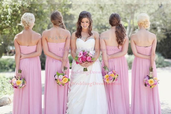 Discount Pleats Chiffon Sweetheart Empire Bridesmaid Dresses #PWD01012577