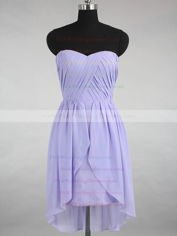 Asymmetrical Sweetheart Beautiful Chiffon Ruffles Bridesmaid Dress #PWD01012145