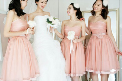 Nicest Ball Gown Sweetheart Tulle with Bow Bridesmaid Dresses #PWD01012204