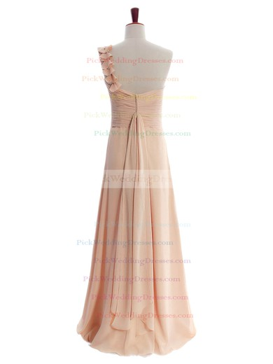 Affordable One Shoulder Chiffon with Sashes / Ribbons Bridesmaid Dresses #PWD01012597