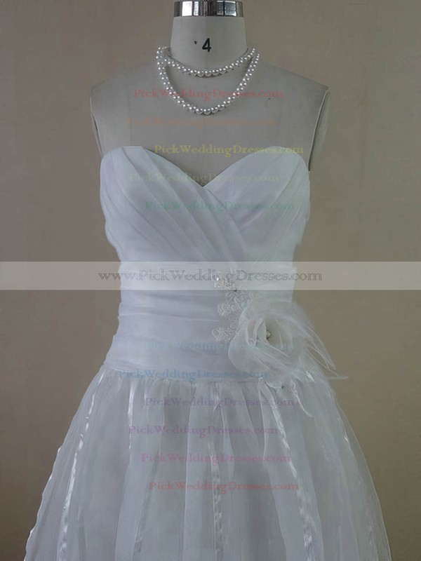 A-line Ankle-length Organza Beading Sweetheart Bridesmaid Dresses #PWD01012612