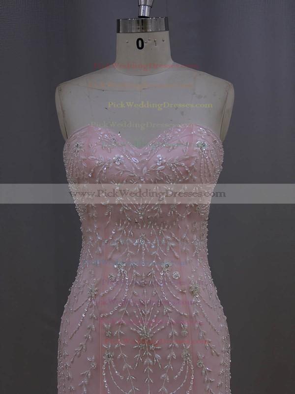 New Arrival Sweetheart Tulle Beading Ivory Trumpet/Mermaid Wedding Dresses #PWD00022073
