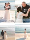 Princess V-neck Tulle Sashes / Ribbons Short Sleeve Wedding Dress #PWD00022520