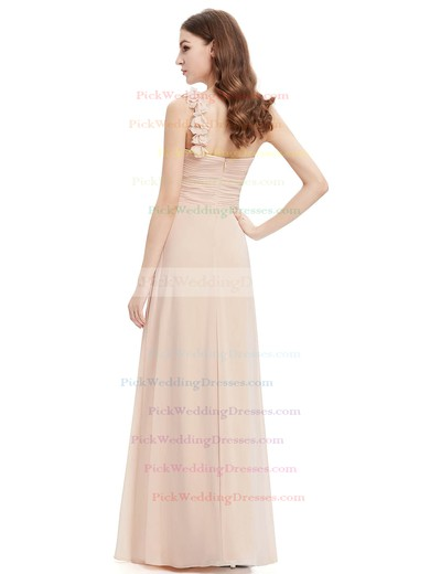 Cheap One Shoulder Chiffon Ruffles Empire Bridesmaid Dresses #PWD01012723