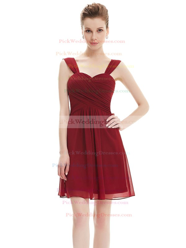 Cute Sweetheart Chiffon Short/Mini Ruffles Sage Bridesmaid Dresses #PWD01012724