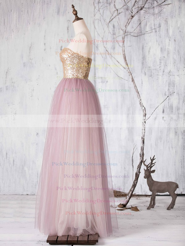 Stunning Princess Sashes / Ribbons Sweetheart Tulle Bridesmaid Dresses #PWD01012727