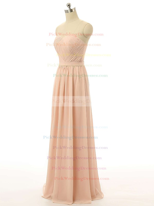 Sweetheart A-line Chiffon Ruffles Promotion Bridesmaid Dress #PWD01012731