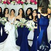 Elegant Backless Lace Satin Trumpet/Mermaid Off-the-shoulder Bridesmaid Dresses #PWD01012743