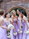 Sweetheart Floor-length Ruffles Tulle Cheap Bridesmaid Dresses #PWD01012749