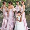 Designer Trumpet/Mermaid Taffeta with Lace One Shoulder Bridesmaid Dresses #PWD01012750