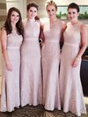 Sheath/Column Lace Ankle-length Sashes / Ribbons Ladies Bridesmaid Dresses #PWD01012756