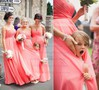 Floor-length Ruffles Chiffon Sweetheart Empire Juniors Bridesmaid Dresses #PWD01012762