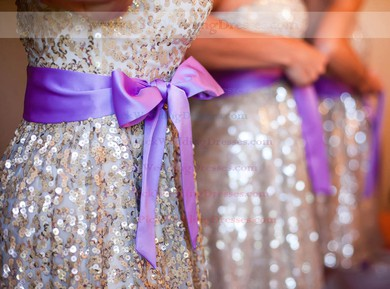 Short/Mini Sweetheart Sequined Sashes / Ribbons Simple Bridesmaid Dress #PWD01012775