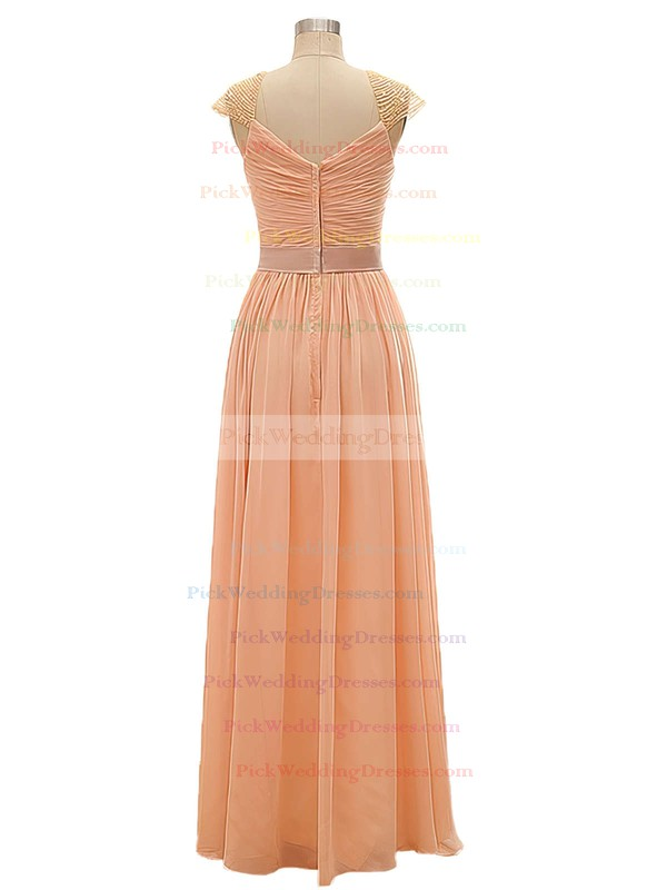 Chiffon with Beading A-line V-neck Vintage Bridesmaid Dresses #PWD01012802