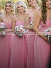 Floor-length Sweetheart Chiffon with Ruffles Perfect Bridesmaid Dresses #PWD01012817