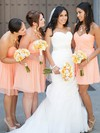Short/Mini Ruffles Pink Sweetheart Chiffon Latest Bridesmaid Dresses #PWD01012821