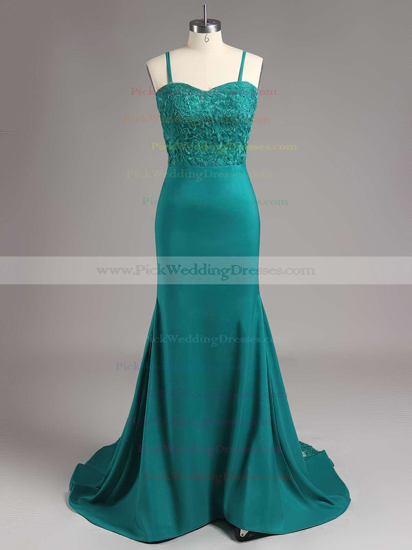 Trumpet/Mermaid Silk-like Satin Appliques Lace Sweetheart Amazing Bridesmaid Dresses #PWD01012822