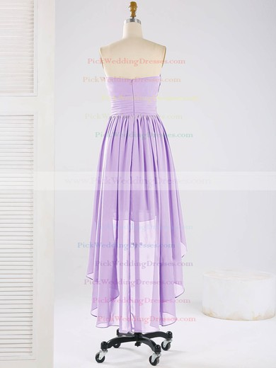 Asymmetrical Ruffles Chiffon Sweetheart High Low Online Bridesmaid Dresses #PWD01012863